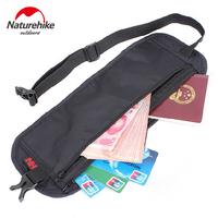 NatureHike 295*110mm Nylon Ultra-Slim Travel Outdoor Sport Anti-Theft License BagPacks Black Grey Hiking   Running   NH15Y005-B