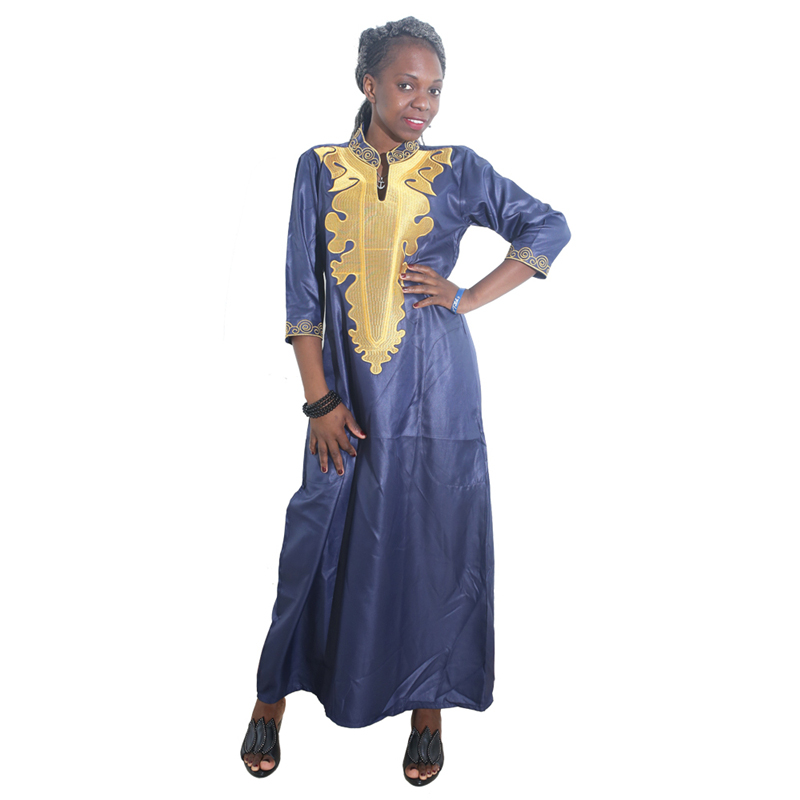 MD 2019 African Dresses For Women Bazin Riche Embroidery Dashiki Dress South Africa Clothing Ladies Traditional African Dresses