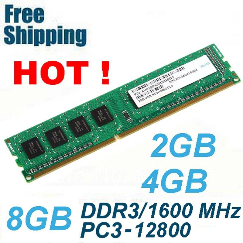 DDR3 1600 / PC3 12800 2 GB 4 GB 8 GB memorie RAM memorie e pajtueshme - Komponentët kompjuterikë