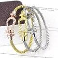 fashion jewelry U shaped buckle full stone wire magnetic buckle bracelet titanium gold love  bracelet fashion silver H bracelets