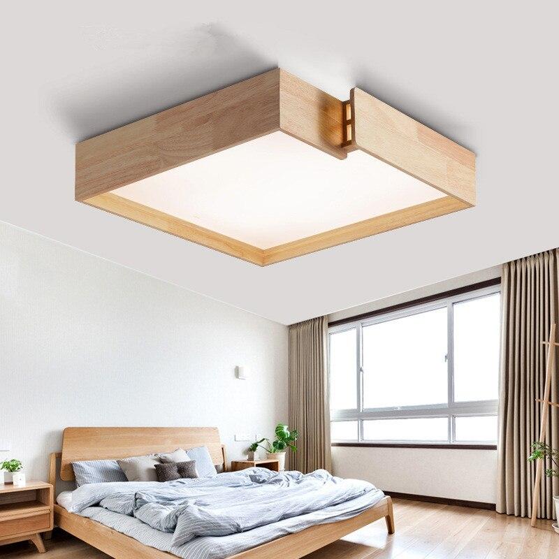 Creative wooden Ceiling Lights bedroom lamp Japanese tatami log lamp Nordic style led master bedroom lamp LU824424|ceiling lights bedroom|wood ceiling|wood ceiling light - title=