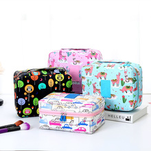 Brand Organizer Travel Fashion Lady Cosmetics Cosmetic Case Beautician Storage Bags Large Capacity Makeup Bag For Women Gifts недорого
