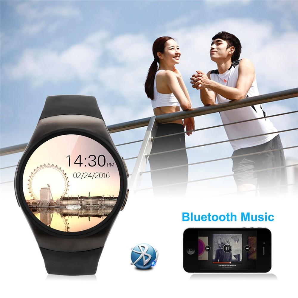 2016 New Product KW18 Smart Watch Android IOS Digital watch Bluetooth Reloj Inteligente SIM Round Heart Rate Monitor Watch Clock23