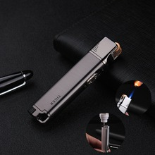 Metal Gas Lighter Turbo Fixed Fire Switch Cigar Cigarette Lighters Electronic Smoking Accessories