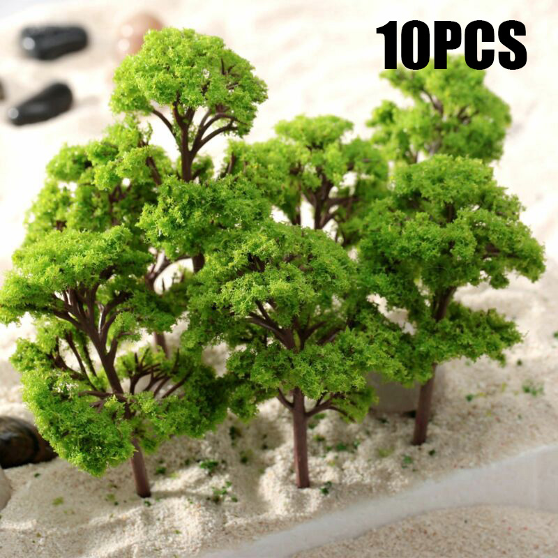 10pcs Banyan Trees  Model Trees Train Garden Park Wargame Scenery Layout Diorama 12cm Miniature Landscape DIY