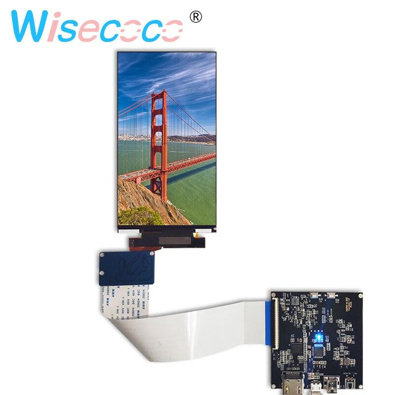 Pantalla del panel del módulo LCD 4 K de 5,5 pulgadas con la placa del controlador HDMI MIPI para DLP/SLA 3D impresora KLD 2160x3840