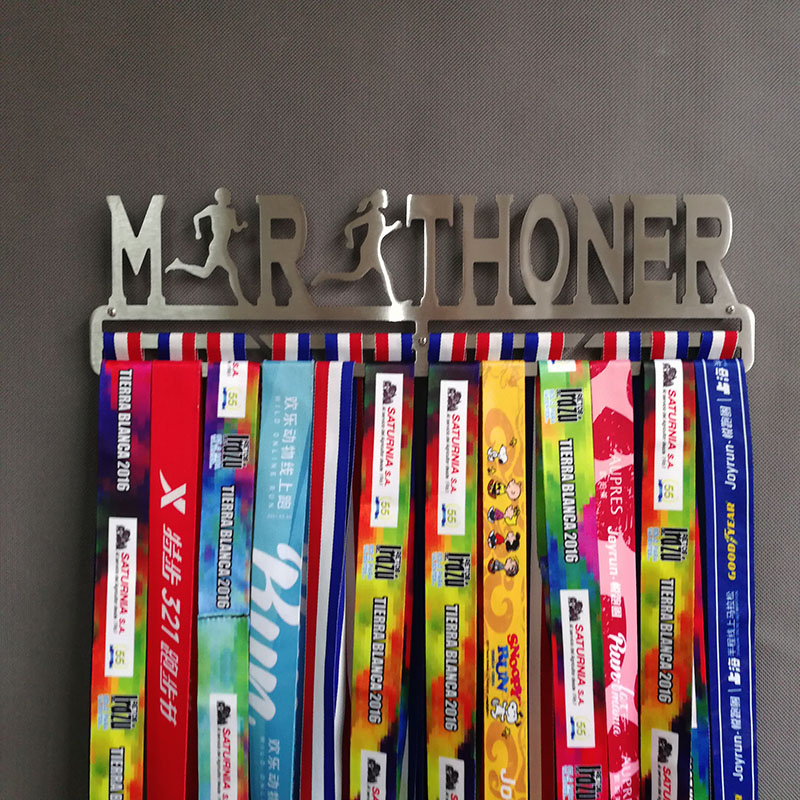 Marathon medal hanger Sport medal holder Steel medal display rack