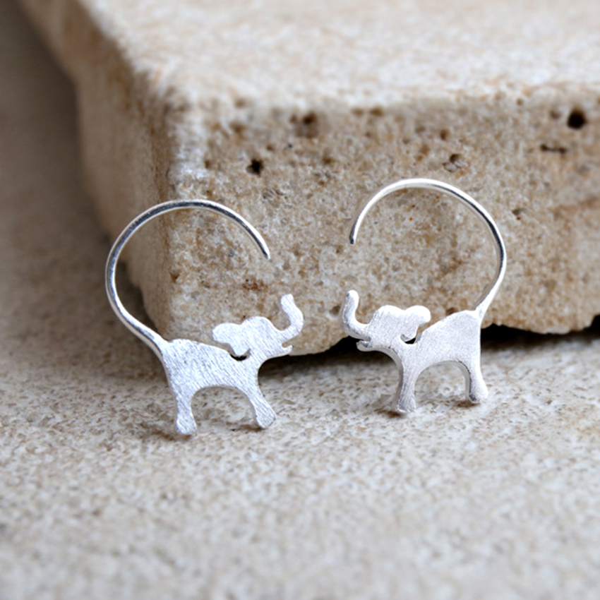 charity elephant earrings rhinestone handmade adventurous product trails