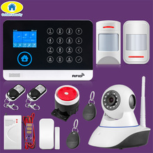WG11 WIFI GSM  Home Business Burglar Security Alarm System APP Control Siren RFID pet friendly Motion Detector PIR Smoke Sensor kerui 7 inch tft color display wifi gsm security alarm system smart home solar siren with ip camera pir motion detector