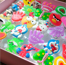 Best Birthday Gift 3600pcs/lot Glowing cartoon finger rings, LED flashing light toy for kids birthday party favors,animal and fr