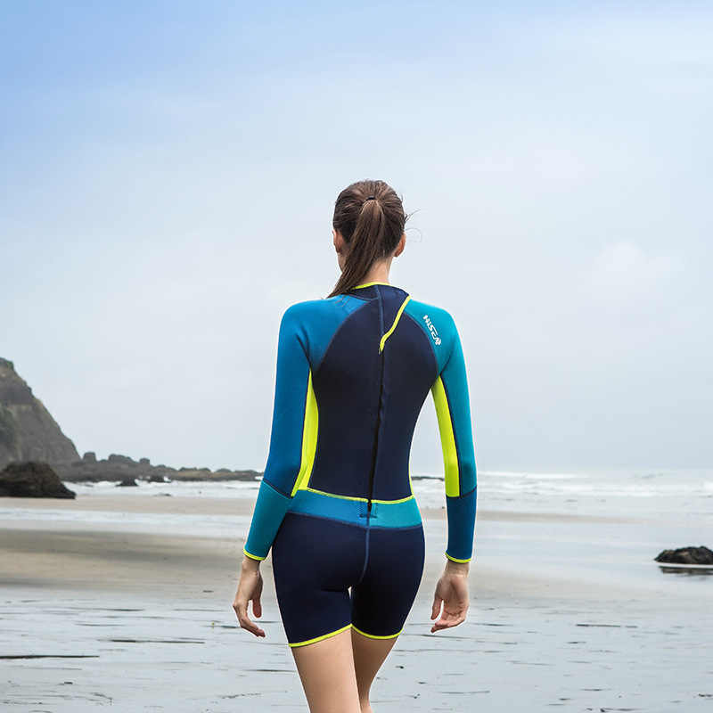 91582fe484f 2018 Women's Wetsuit 1.5mm Long Sleeve Swim Surf Snorkel Scuba Diving Suits  UV Protection UPF