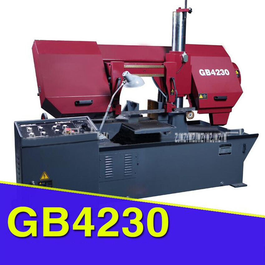 GB4230 Hydraulic Semi-automatic Band Sawing Machine Double-column Horizontal Metal Band Sawing Machine 380V 3KW 29/54/68m/min