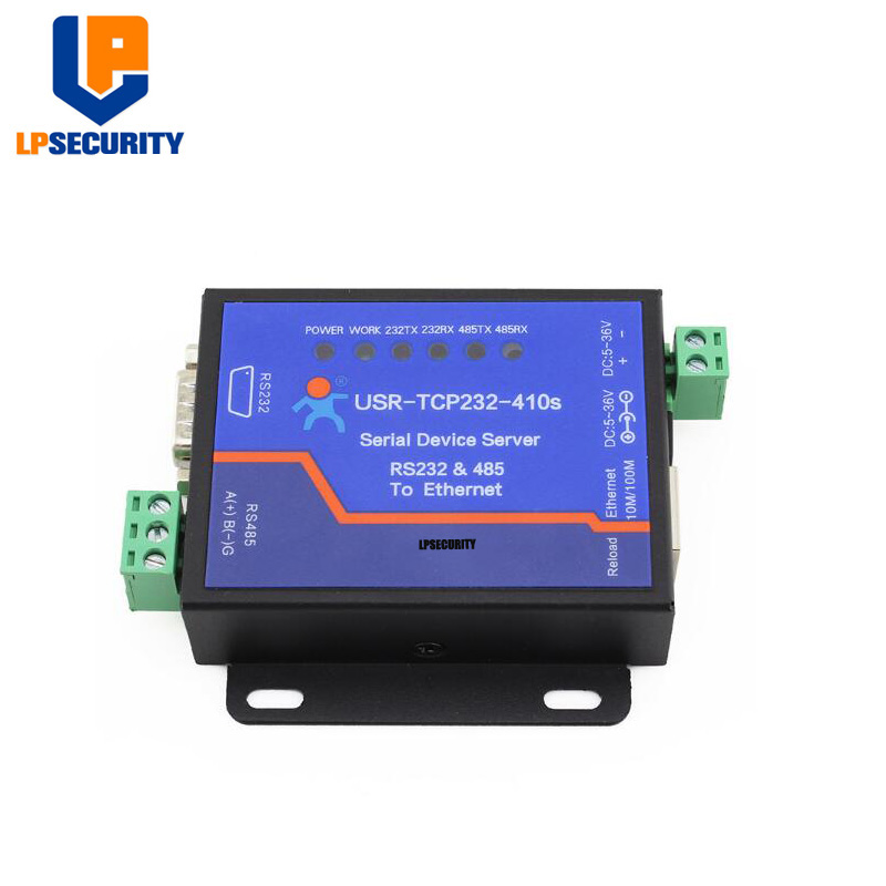 LPSECURITY USR-TCP232-410S Serial RS232 RS485 To TCP/IP Ethernet Modbus TCP/Httpd Client