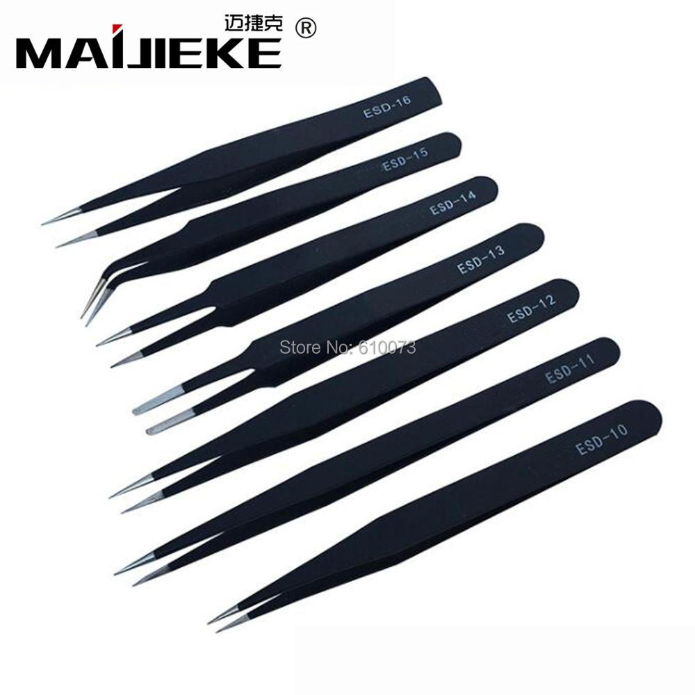 MAIJIEKE Precision Stainless Steel Exactitude Tweezers Ultra Fine Point Precision Tweezer Phone Repair Multi Tools