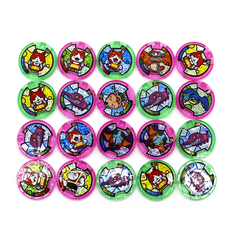 Japanese Anime Yokai Watch DX Peripheral  Yo-Kai Wrist Watch Medals Collection Emblem Toy 10pcs set 7g 8g fishing minnow lure reflective 3d eyes hard baits hooks for wobblers pike winter sea fishing iscas minnow