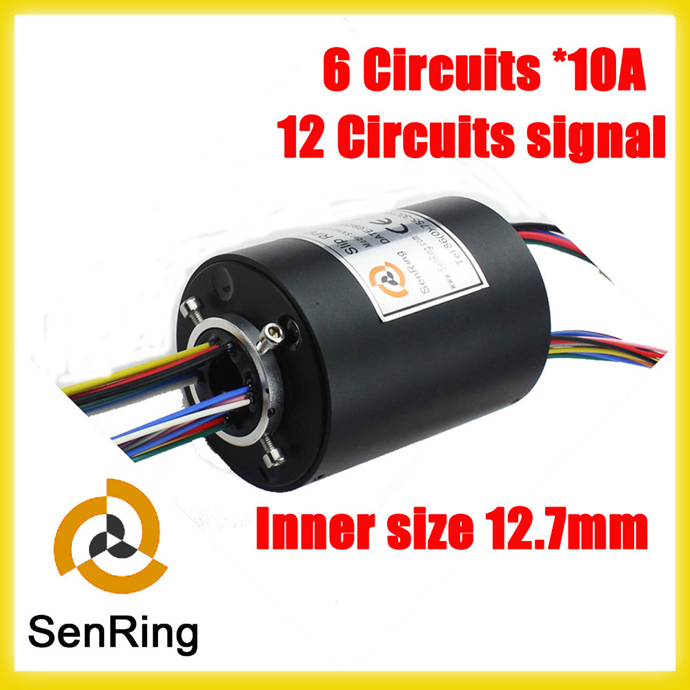 Rotating connector Armature 6 circuits 10A and 12 signal 2A through hole slip ring with 12.7mm free shipping new lp 4 strings electric bass guitar bridge in chrome l18