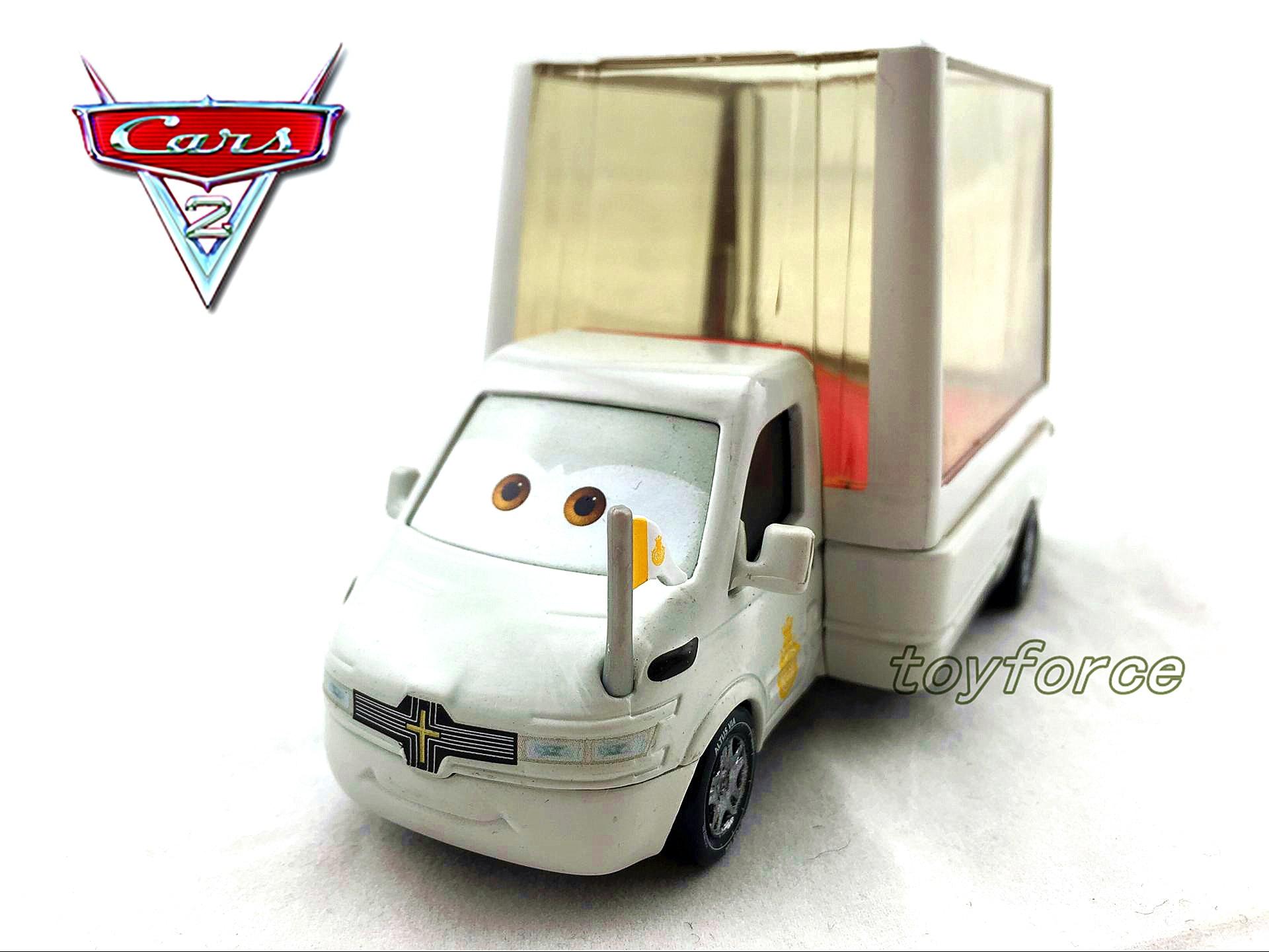 Mt Pixar Cars Popemobile 1 55 Diecast Toy Rare Cars Lightning
