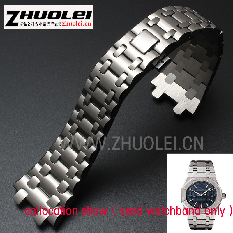 28mm high quality rose gold imported stainless steel watchband bracelet for men AP watches with butterfly