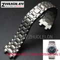 28mm importados de alta qualidade em ouro rosa pulseira pulseira de aço inoxidável para homens relógios AP com borboleta buckle assista bracelete