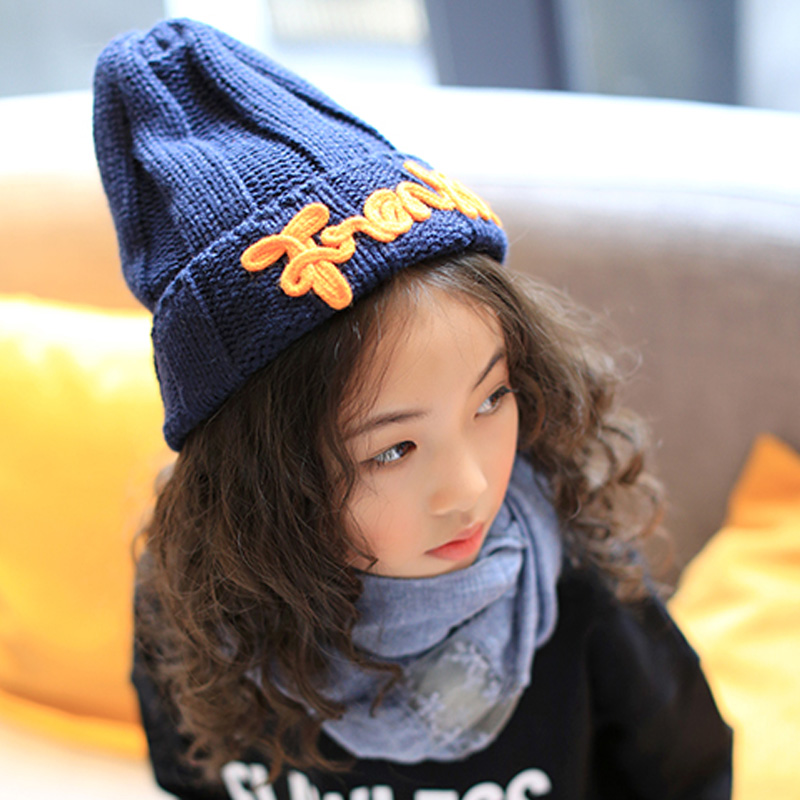 2017 New Fashion Women's Warm Woolen Winter Hats Knitted Fur Cap For Kids Adult Franks Letter Skullies & Beanies 6 Color Gorros franks шорты franks модель 22303020