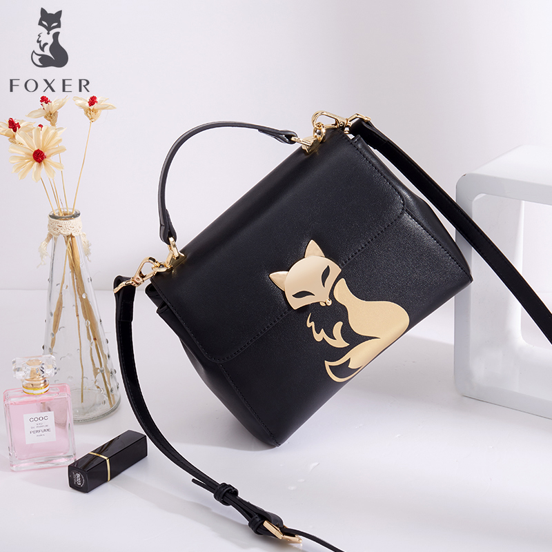 FOXER Women Leather Crossbody Bag & Messenger Bag & Shoulder Bag Lady Handbag Fashion Purse for Girl 2017 new fashion 3pcs women lady handbag shoulder bag lady tote messenger leather crossbody purse set solid zipper gift soft