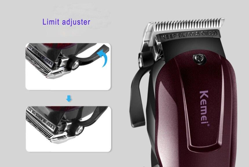 2019 Kemei professionnel électrique tondeuse cheveux puissant tondeuse cheveux rasage machine cheveux coupe perle électrique rasoir - 6
