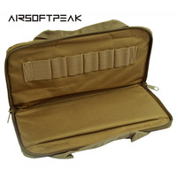 AIRSOFTPEAK Tactical Pistol Carry Bag Portable Military Handgun Holster Pouch Durable Padded Pistol Magazine Carry Case