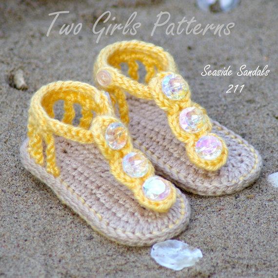 Häkelarbeit baby sandalen, Baby mädchen Stricken schuhe, häkeln Baby ...