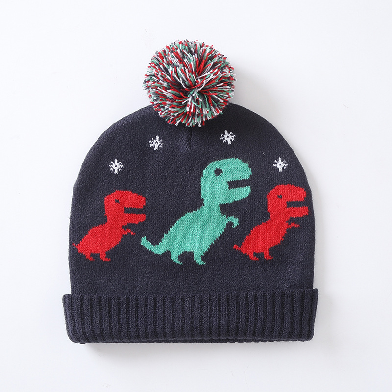 c82032afa8e73 New Autumn and Winter Dinosaur Pattern Baby Knitted Headgear Child Earmuffs  Warm Winter Hat-in Hats   Caps from Mother   Kids on Aliexpress.com
