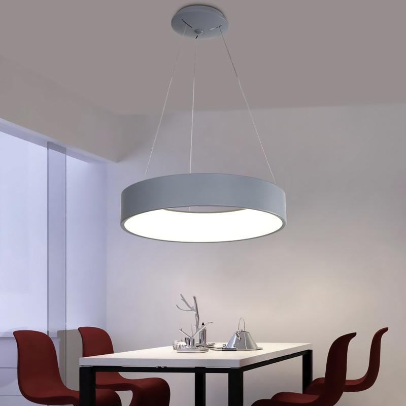 Gray/ White Modern Led Pendant Chandelier For Dining Room