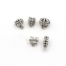 50pcs/lot Antique Silver Metal Jewelry Connector Charms For Findling Diy Accessories Charm Handmade Necklace Bracelet