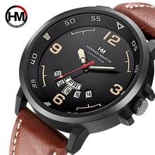 2018 Топ Элитный бренд Часы Мужчины неделю Дисплей Reloj кожаный наручные часы армия Военная Униформа Reloj Hombre мужские часы Relogio Masculino