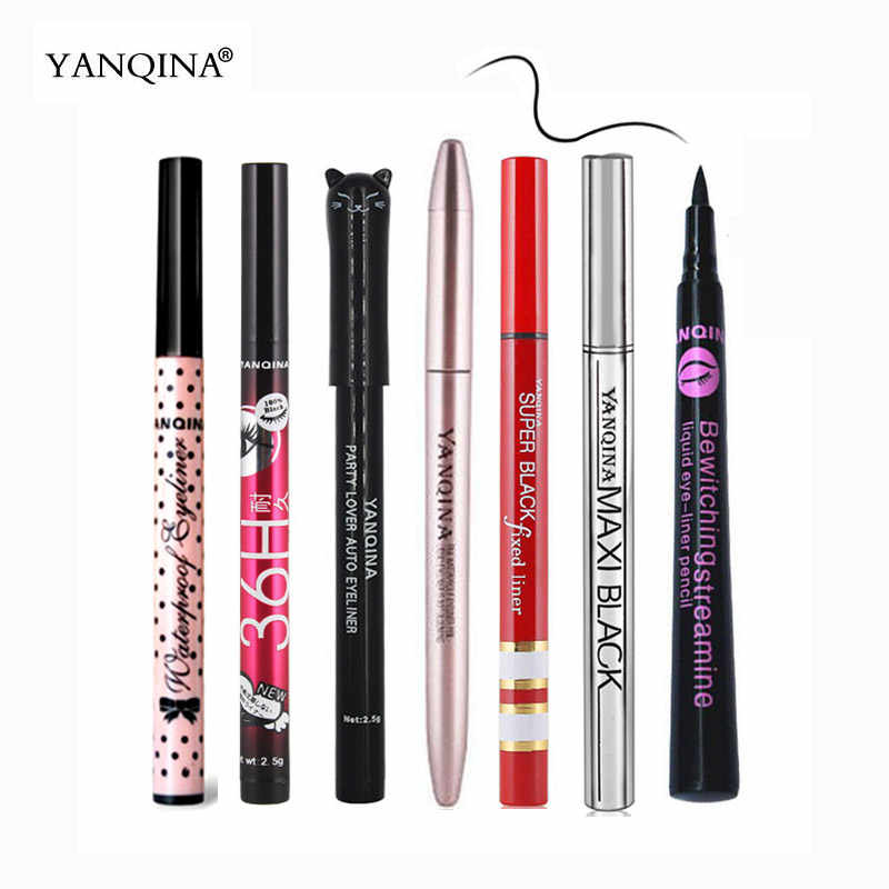 Yanqina Mata Make Up Eyeliner Pensil Tahan Air Mempertajam Liquid Eye Liner Pen Makeup Profesional Liners Pulpen Eyeliner Kosmetik