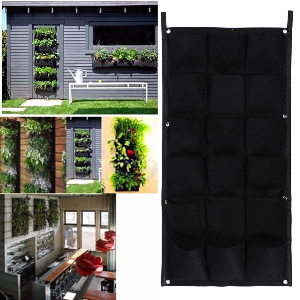6/9/12/18/56/64 taschen Garten Hängen Pflanzer Vertikale Garten Hängen Pflanzer Tasche indoor Outdoor Wand Balkon Kräuter