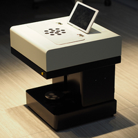 Горячая salling торт печатная машина съедобные принтер кофе принтер с 8 дюймов планшетный ПК и USB версия + 4*100 мл съедобные чернила