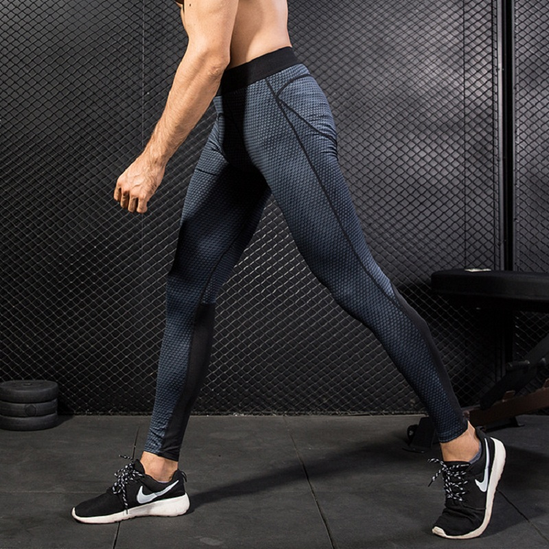 Mens Compression Running Tights Basketball Gym Pants Bodybuilding Jogger Running Pants Fitness Women Sexy Elastic Compression S
