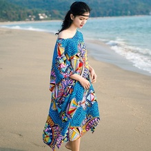 South East Asia National Dress summer Bohemia robe Thailand Malaysia Nepal holiday loose thin Cool Large size Tropical