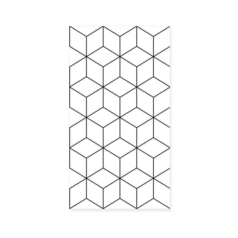 Nordic Style Wallpaper Ins Tv Background Black And White Checker Geometry Bedroom Living Room Modern Minimalist Net Wallpaper