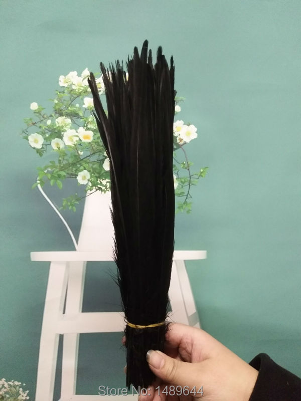 Wholesale feathers 100pcs natural yellow pheasant feathers 27 35 cm 11 14 inch pheasant feathers clothing accessories in Feather from Home Garden