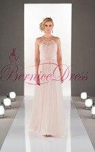 2014 Stylish Scoop A-Line Floor-Length Pink Ruched Bridesmaid Dresses Vestido Pra Madrinha Girls Junior Bridesmaid Dress