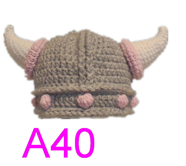 b504ff289 US $153.9 5% OFF 30pcs/lot Crochet Viking Helmet Hat with Beard / Viking  Helmet Crochet , Dwarf Hat , Viking hat with horns ,baby pirates hat -in  Hats ...