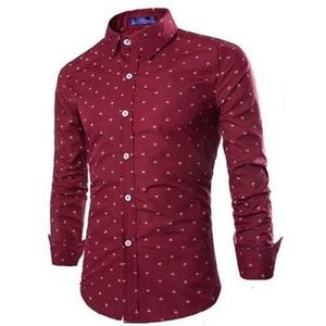 Image 5 - Мужская деловая рубашка Zogaa, Повседневная рубашка с длинными рукавами и рисунком стрелы, мягкая приталенная рубашка, 2019