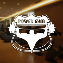 Fitness Club Decal Gym Sticker Body-building Dumbbell Posters Vinyl Wall Decals Pegatina Decor Mural Gym Sticker JXB001