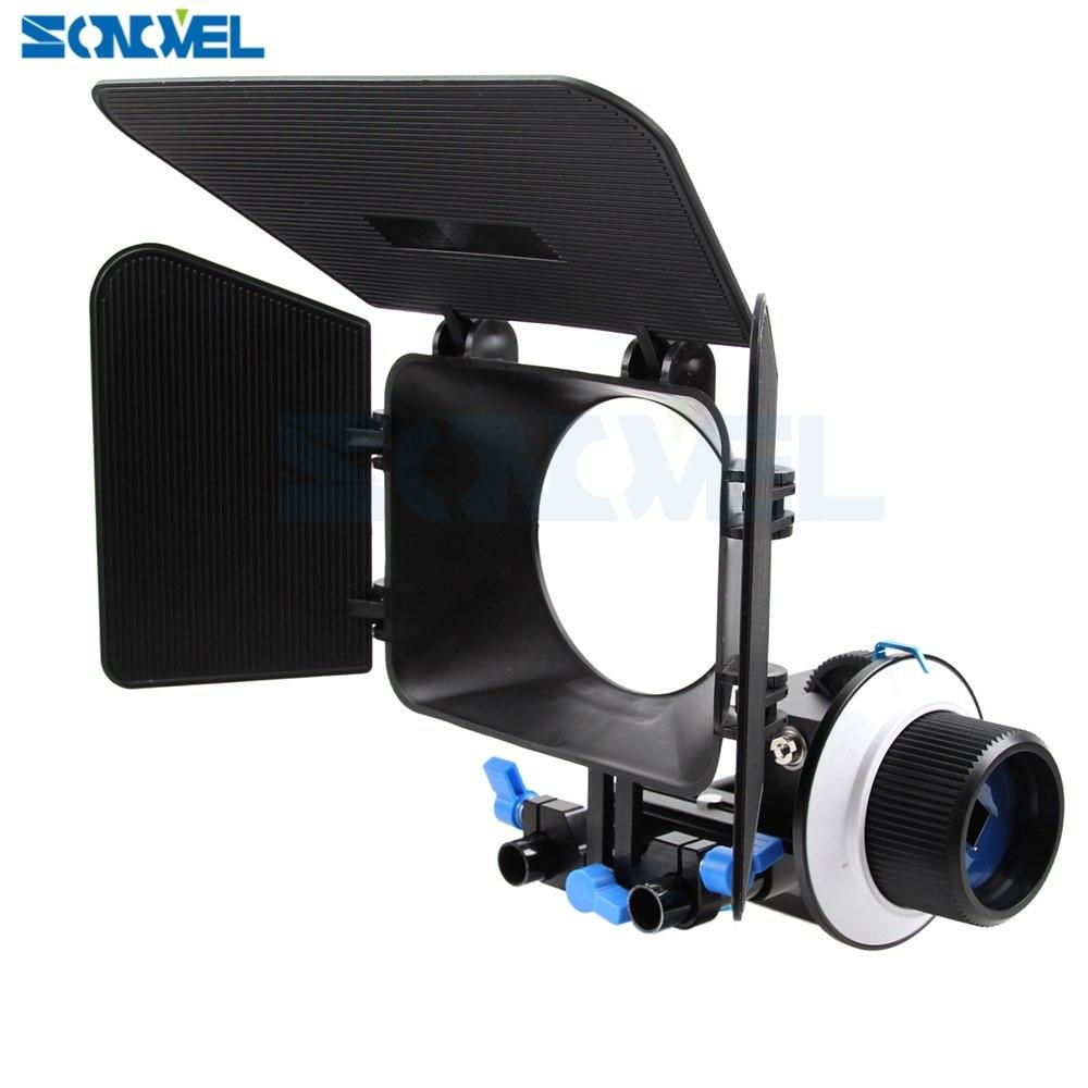 Support de tige de Rail de 15mm + viseur de suivi F1 + boîtier mat pour Canon Nikon DSLR DV
