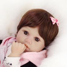 real dolls silicone baby reborn doll 50cm baby girl bebe 20Inch Kids Playmate Gift for Girls Baby  Soft Toys for Bouquets купить недорого в Москве