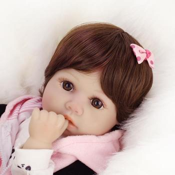 real dolls silicone baby reborn doll 50cm baby girl bebe 20Inch Kids Playmate Gift for Girls Baby  Soft Toys for Bouquets