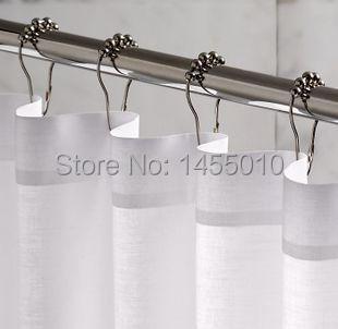 Brass Gourd Ball Beaded Shower Curtain Hooks Lucky Ball Shower Curtain Hooks  12pcs Set Bathroom Curtain