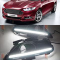 Free shipping 2 White LED Daytime Day Fog Lights DRL Run lamp For Ford Fusion Mondeo 2013-2014