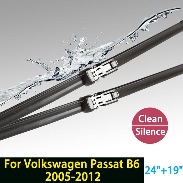 """Limpiaparabrisas cuchillas para volkswagen passat b6 (2005-2012) 24 """"19"""" en forma de botón tipo brazos del limpiaparabrisas sólo hy-011"""