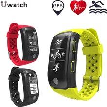Smartband GPS S908 Moniteur de Fréquence Cardiaque Pedomenter Hommes Sport IP68 Montre Smart Watch Fitness Bracelet PK mi bande 2 Bracelet